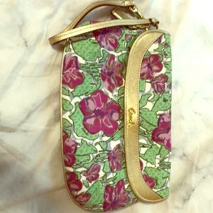 Coach floral large clutch